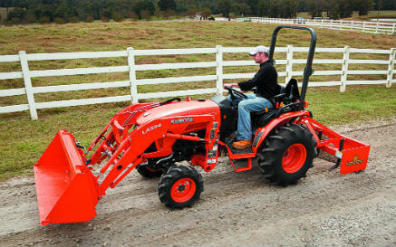how to operate a Kubota tractor