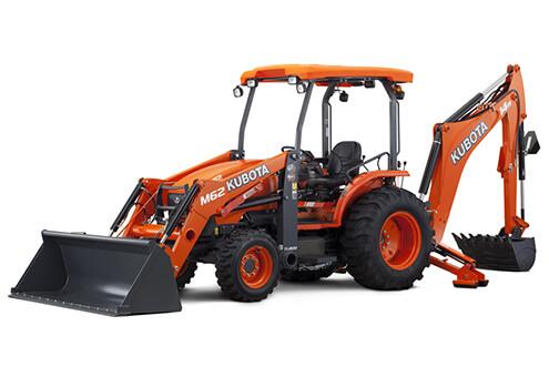 Kubota M62 tractor loader backhoe